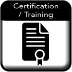 Certification and training Button
