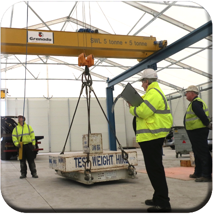 Personnel training certification granada cranes crane engineers commissioning a new double girder crane aloadofball Image collections
