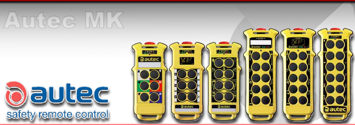 Autec MK range of modular Radio remote control systems for overhead cranes
