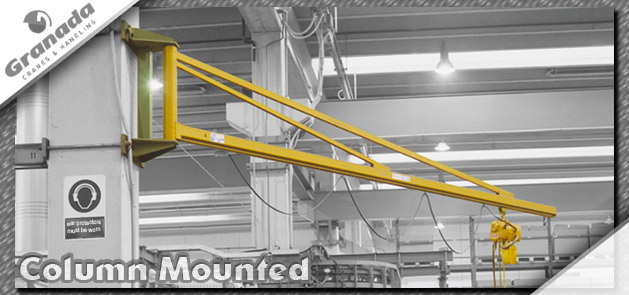 Column mounted jib cranes from granada cranes and handling