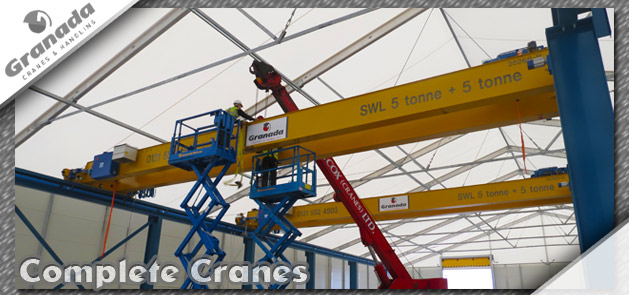 Complete overhead crane systems designed, installed and maintained by granada
