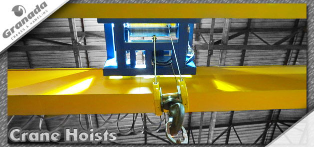 Hoist units for overhead cranes supplied by granada cranes | Wire rope and electric chain hoists in various configurations and capacities
