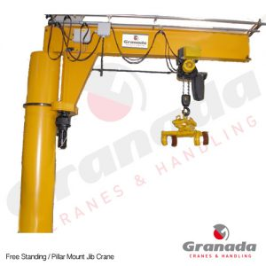 Free standing jib cranes | Pillar Mounted Jib Crane from Granada Cranes and Handling