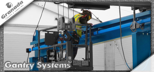 Gantry system design, fabrication and installation by Midlands based Granada Cranes & Handling