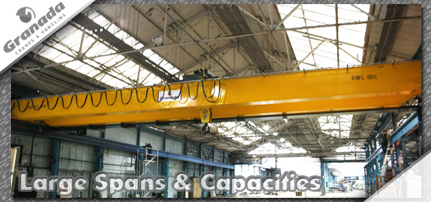 Bespoke overhead cranes | large spans | large lifting capacity | custom engineered gantry cranes from material handling specialist grandada cranes and handling