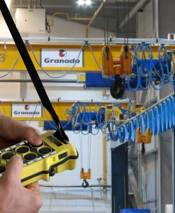 Crane radio remote control systems Supplied by Granada Cranes and handling
