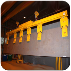 Electro magnets for cutting sheet steel | Tecnolift Tilting beams from granada cranes and handling