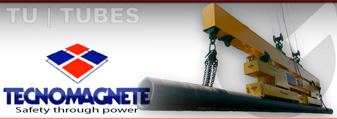 Tecnomagnete Tecno-Lift TU magnetic handling of pipes and tubes supplied in the UK by Granada Cranes and Handling