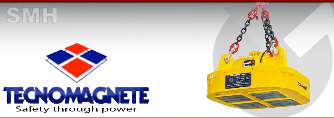 Magnetic handling for Single thick slabs and forged blocks from granda cranes and handling UK