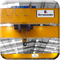 Overhead cranes installed by Granada Cranes, Featuring a 70 tonne overhead for a machined casting company