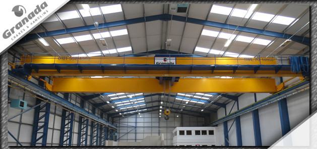 70 tonne overhead crane with catwalk for a machine castings company