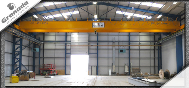 20 tonne overhead crane on a shared gantry system with a 70 tonne bridge crane