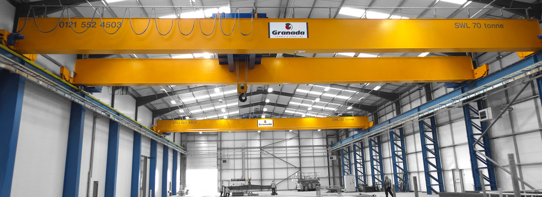 70 tonne double girder crane for a machine casting company