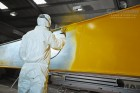 Overhead Cranes painting process at Granada Cranes and Handling