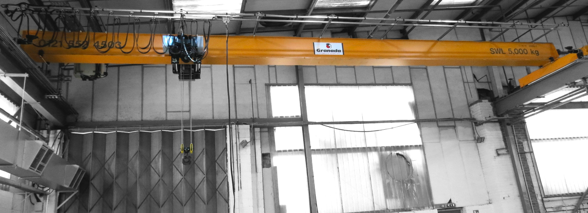 5 tonne overhead crane system from Granada Cranes and Handling