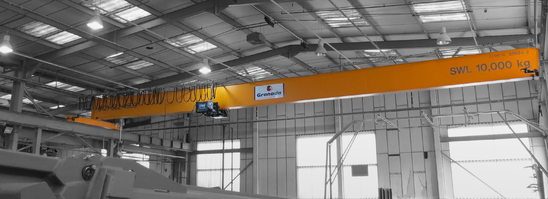10 tonne Overhead Crane system by Granada Cranes and Handling