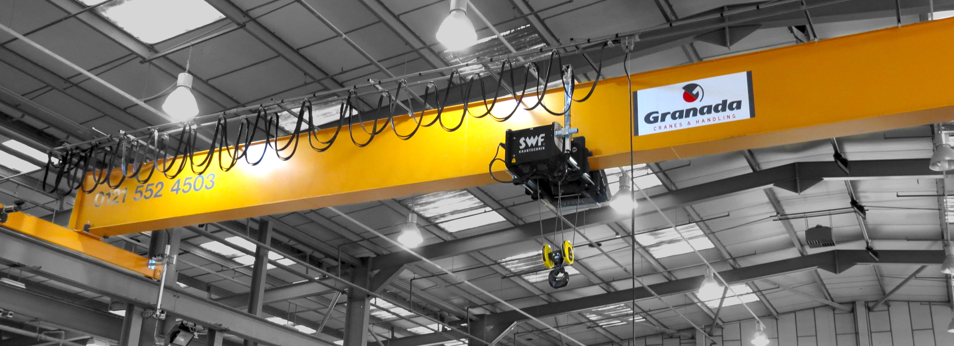 SWF Hoists used on Overhead Cranes supplied by Granada Cranes and handling