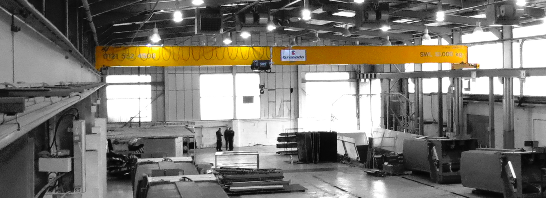 Overhead Cranes supplied and installed by Granada Cranes and Handling