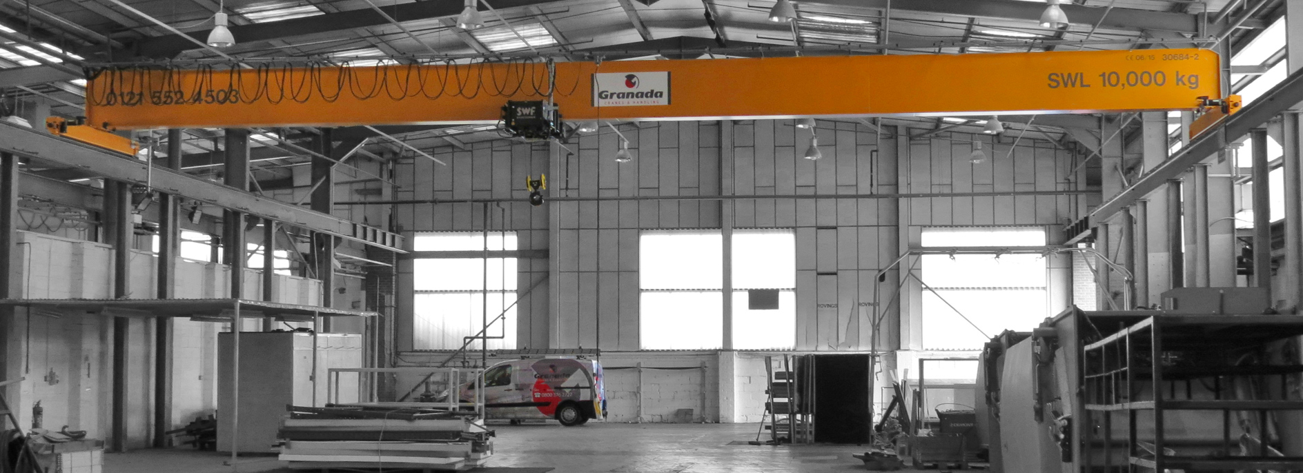 10 tonne overhead crane system installed by by Granada Cranes and Handling