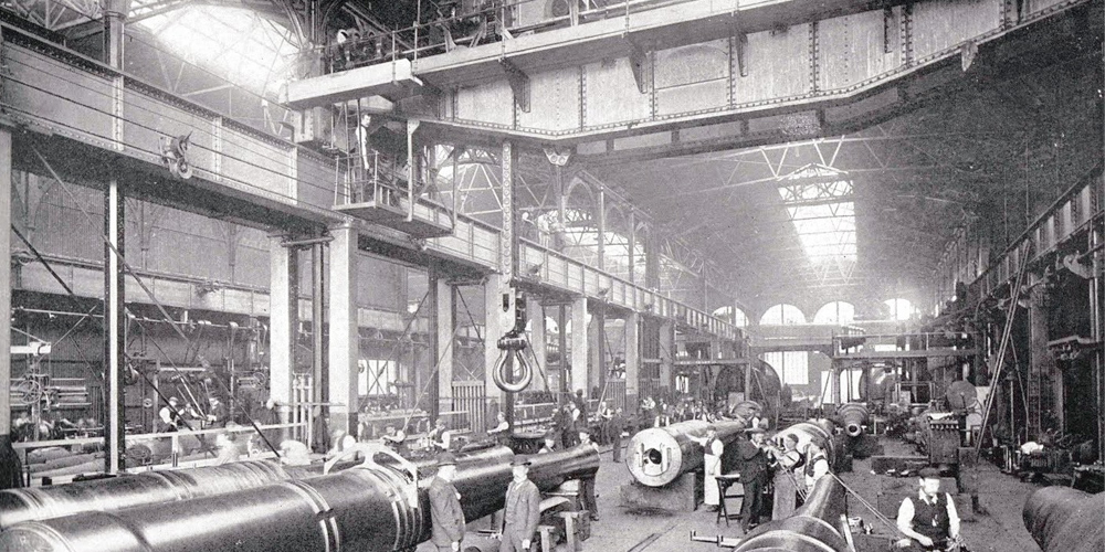 First overhead crane in England by Samson Woolwich