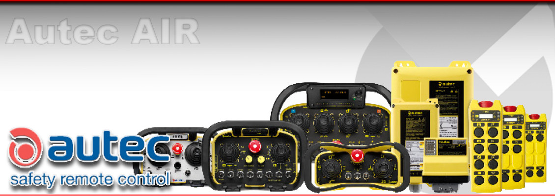 Autec AIR series of Radio Remote control units for lifting applications