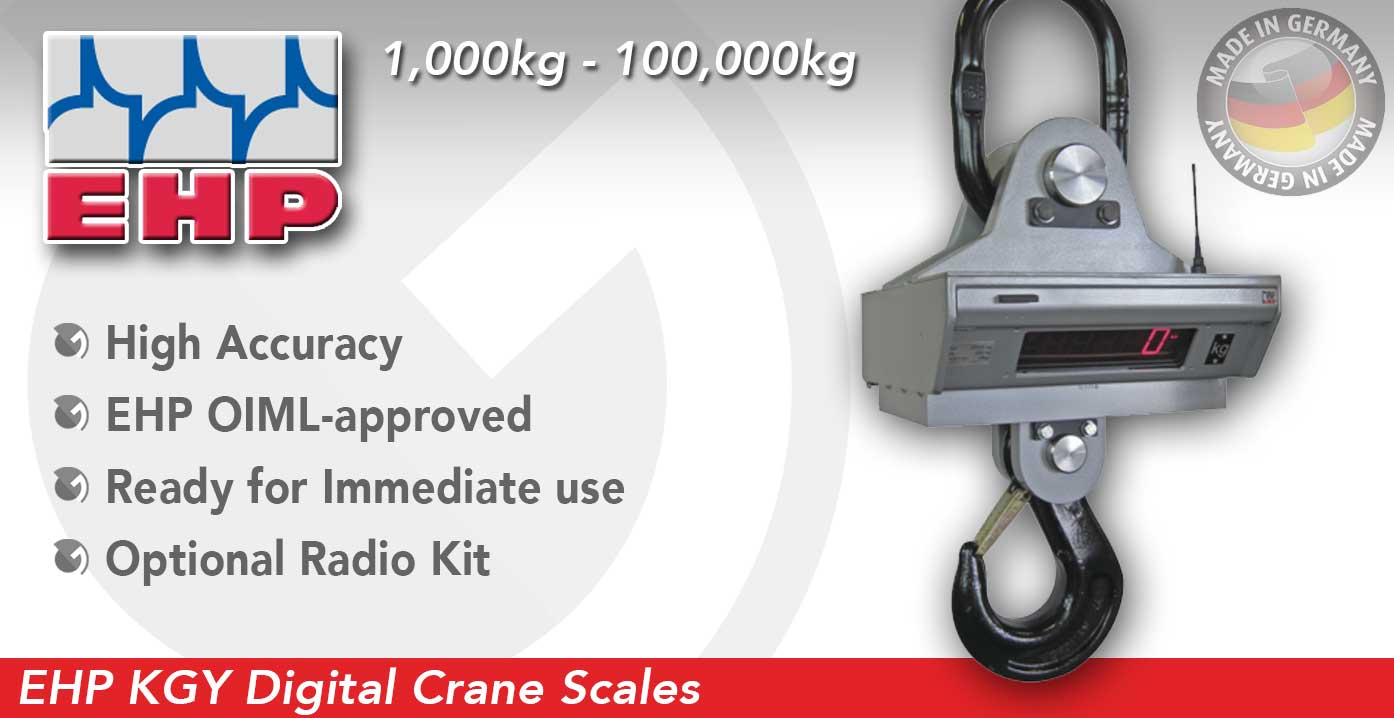EHP KGY Digital Detachable Crane Scales sold by Granada Cranes