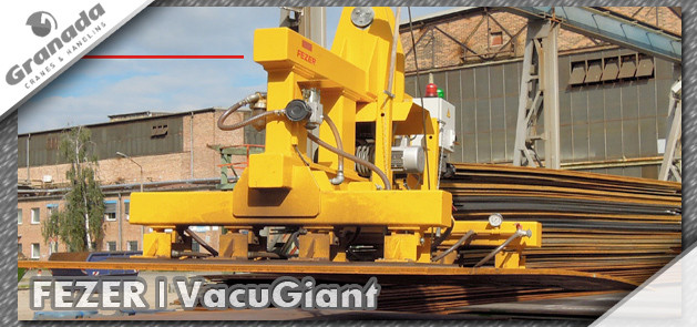 Fezer Vacugiant vacuum lifting equipment from Granada cranes and handling