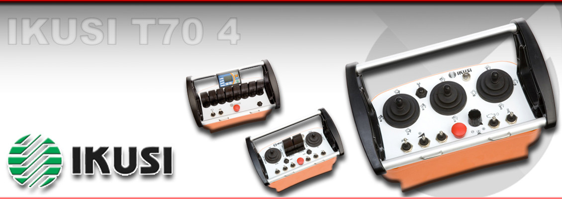 Ikusi Radio systems | Ikusi T70 4 Wireless control system suitable for use on overhead cranes