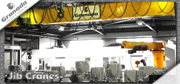 Jib cranes supplied, installed and maintained by Granada cranes & handling
