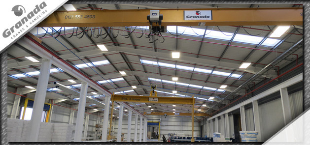Lifting beam manufactured by granada hung from an SWF hoist