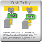 Stahl ST Chain Hoist with Push Trolley