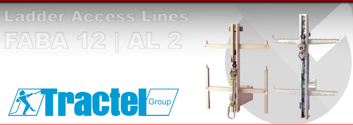 Height safety equipment Tractel FABA 12 and FABA AL 2 Ladder Safety systems from Granada Cranes