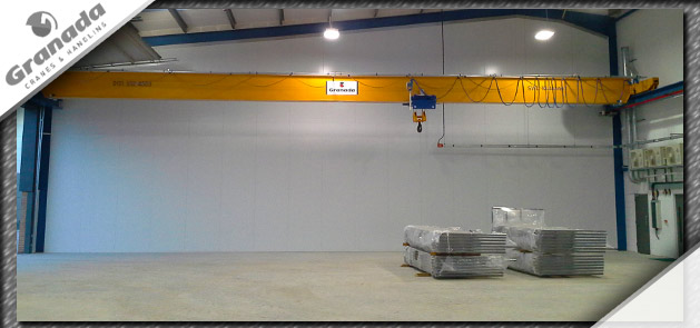Case study image 2 of a single girder crane with underslung omis hoist