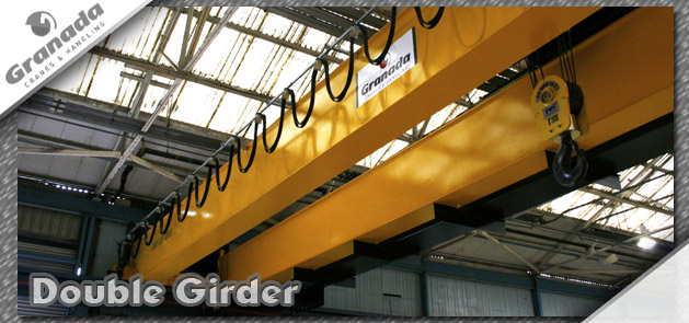 Double Girder overhead traveling bridge crane from midland based granada cranes and handling