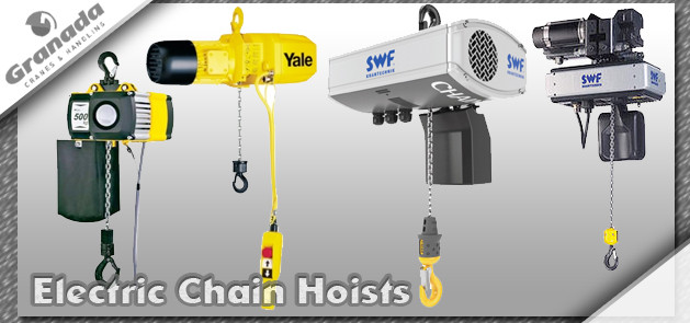 SWF Electric Chain Hoists and Yale hoists from granada cranes and handling. Powered chain hoist