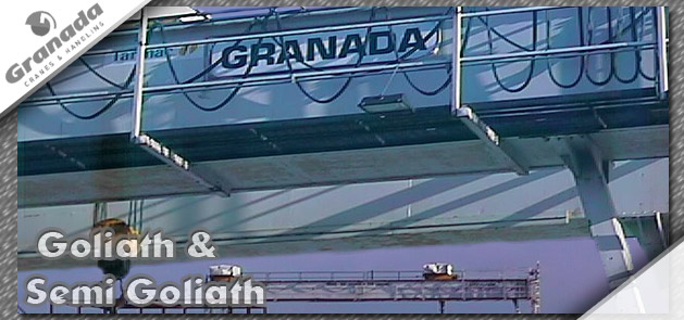 Golioath and semi Goliath Cranes from UK crane manufacturer Granada Cranes and Handling