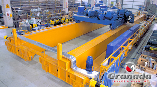 Heavy Duty cranes M8 A8 overhead crane with an open barrel omis hoist available from granada cranes and handling