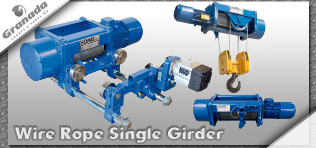 Omis wire rope single girder crane hoist