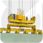 Technomagnete TM6 telescopic permanent electro magnet from granada cranes and handling