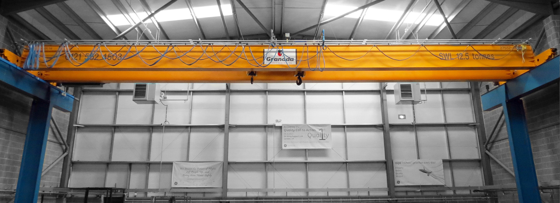 Material handling case study from the aviation industry, specifically on wing support.