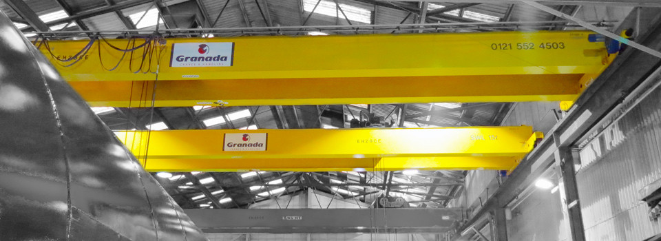 Overhead Cranes with Colour overlay on shared gantry