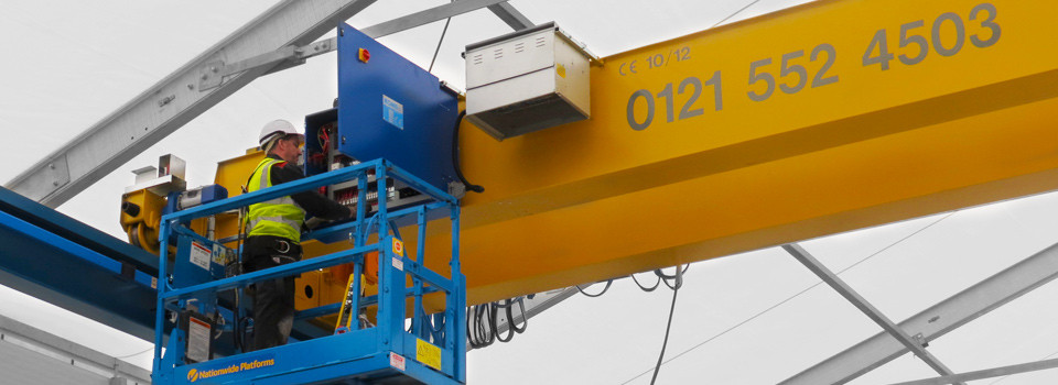 Routing maintenance of overhead cranes