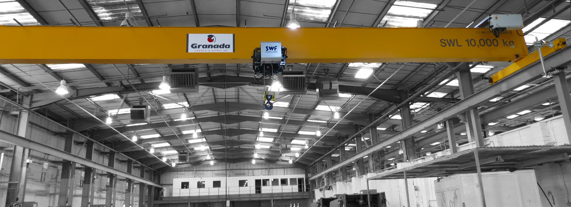 10 tonne overhead crane from Granada Cranes and Handling