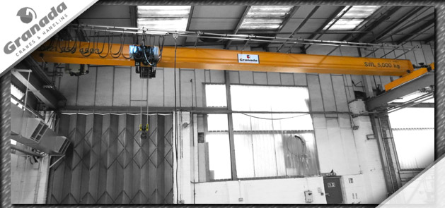 New Overhead Crane from Granada Cranes and Handling, Features a 5 tonne SWF Hoist