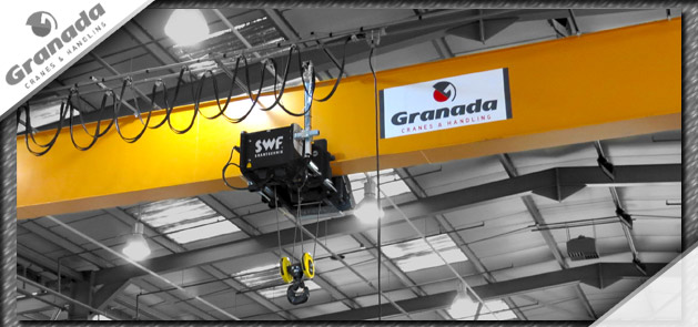 Granada Cranes single girder crane with 10 tonne SWF hoist