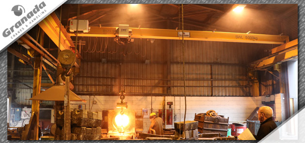 Foundry body image molten metal pouring from ladel