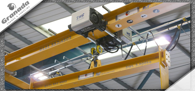 SWF Nova hoist on Granada crane with lifting beam