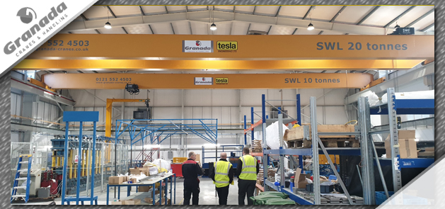 Granada overhead cranes at Tesla engineering in Storrington